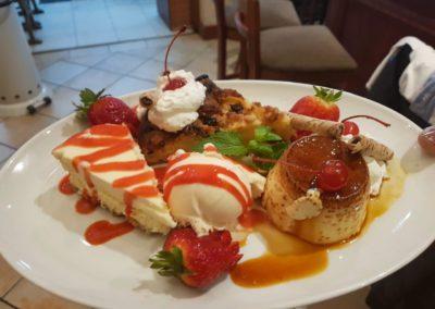 Mixed platter desserts