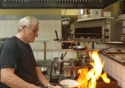 Romano Gorrini in the kitchen
